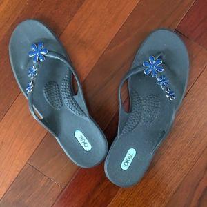 Oka-B Flip Flops in Navy Blue M/L